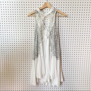 Free People Intimately Halter Lace Slip Trapeze